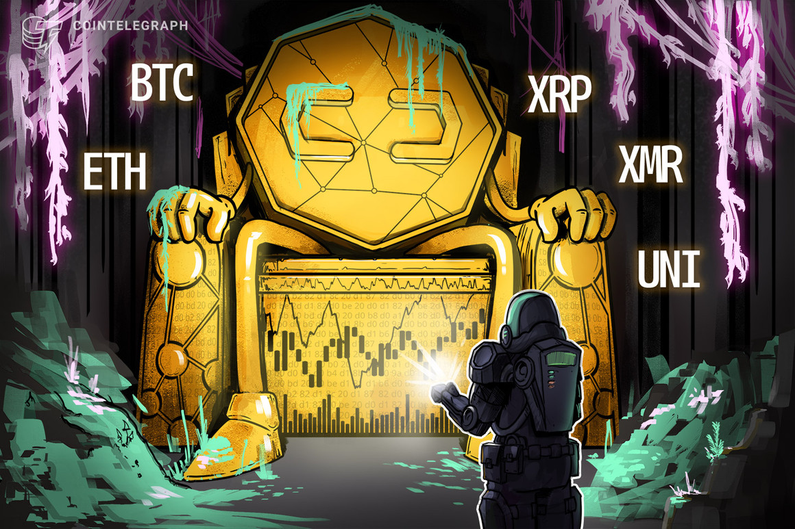 Top 5 cryptocurrencies to watch this week: BTC, ETH, XRP, XMR, UNI