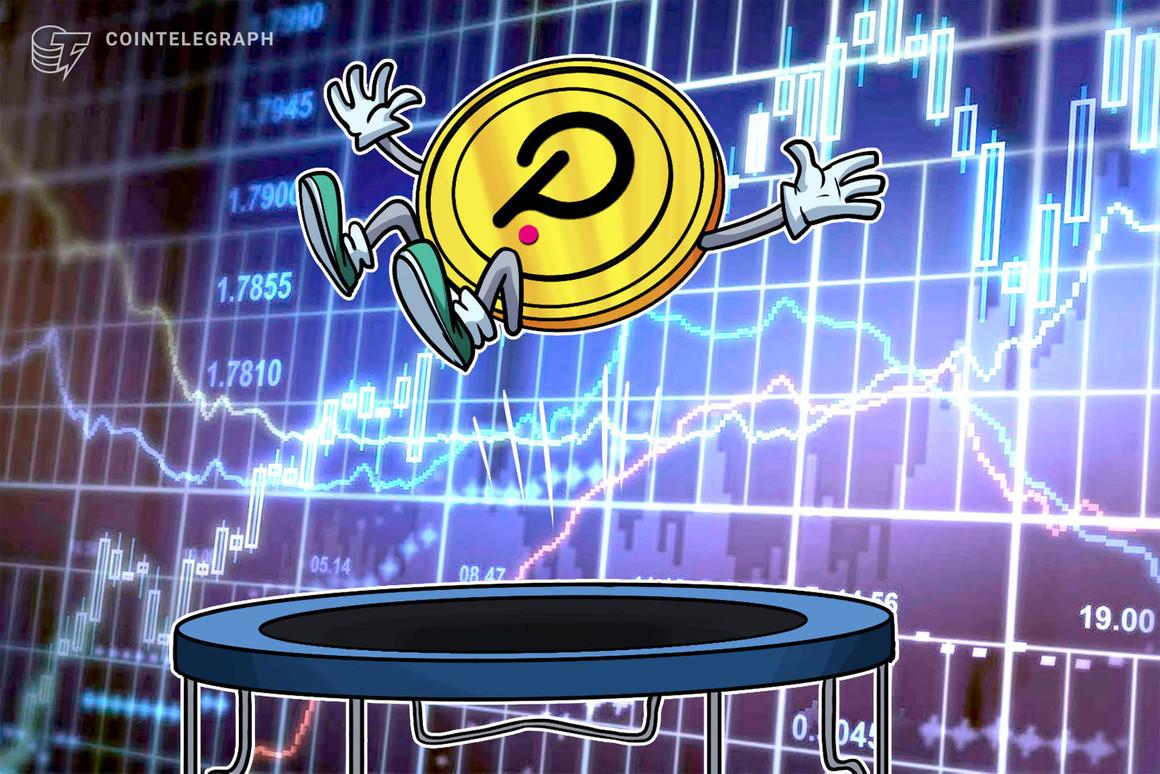 Polkadot (DOT) gains 42% ahead of its long-awaited parachain auctions