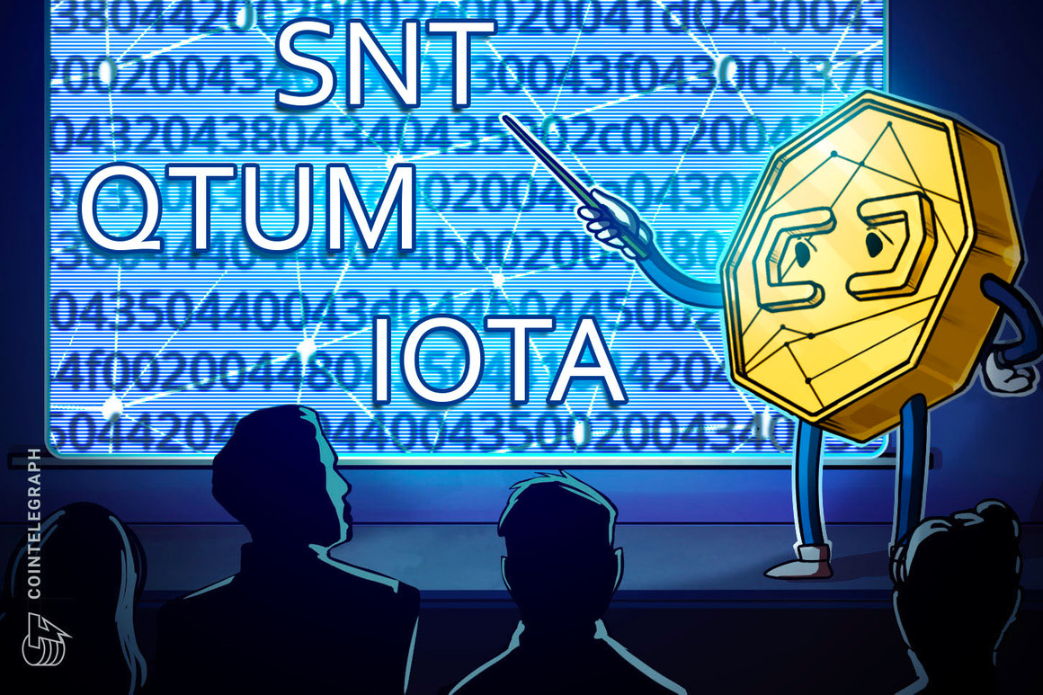 Qtum, Status (SNT) and Iota (MIOTA) rally after breaking multi-year downtrend