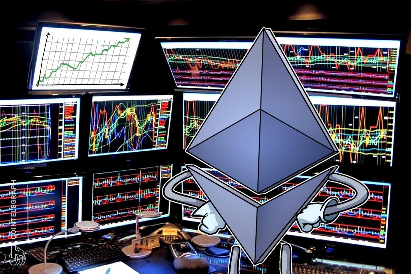 Levantamento diz que apenas 0,01% dos investidores do Ethereum estão com prejuízo acumulado