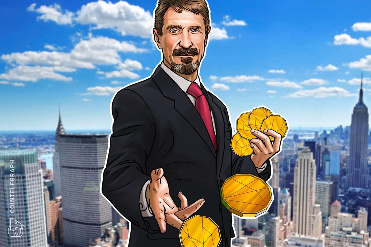 Precio de Bitcoin a 1 millón para el 2020: ¿Por qué McAffee todavía mantiene su apuesta?