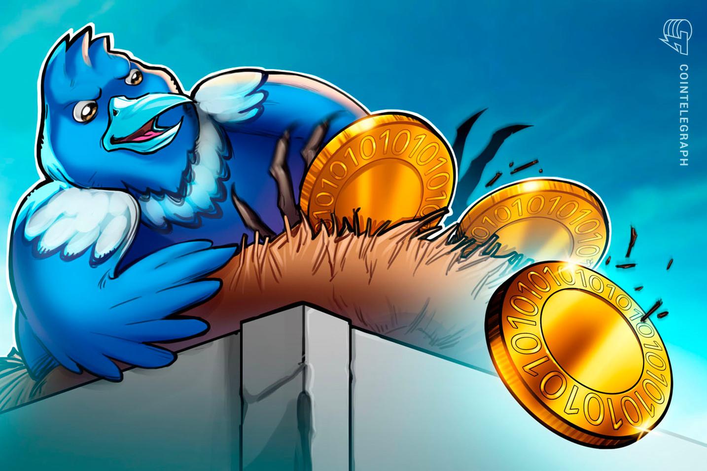 Número de publicações mencionando o Bitcoin no Twitter atinge maior baixa dos últimos quatro anos