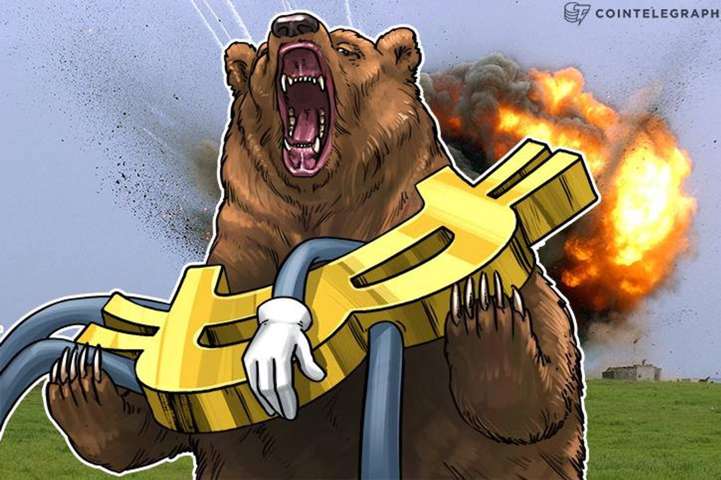 ビットコインは7700ドル回復が今後を占う鍵に 「6000ドル台まで下落」との意見も【仮想通貨相場】