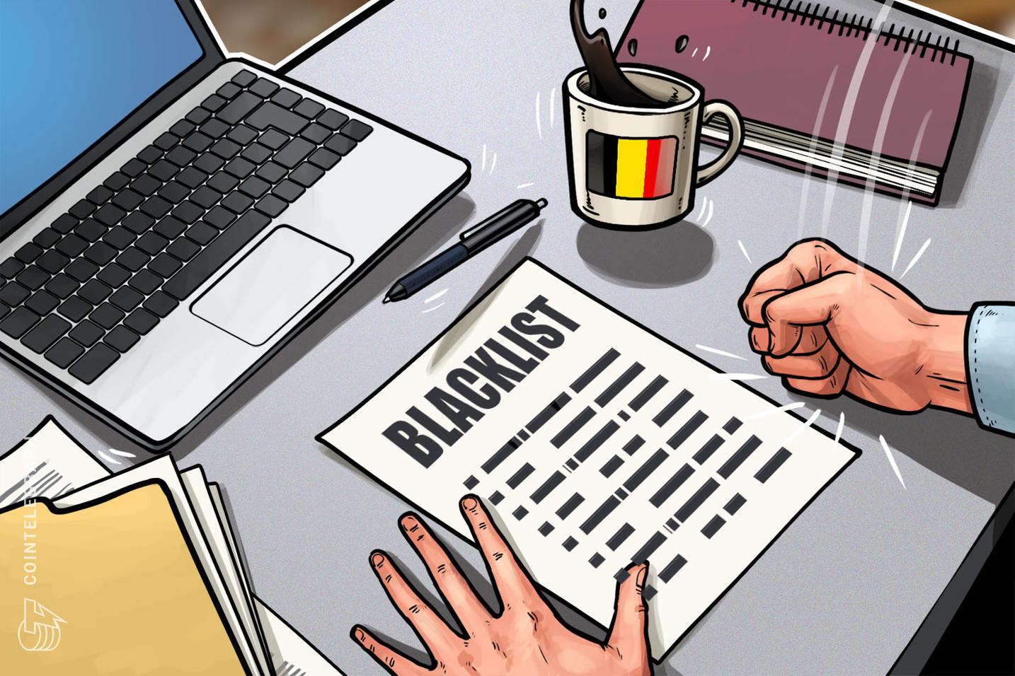 벨기에 규제당국, 9개 암호화폐사이트 블랙리스트에 추가