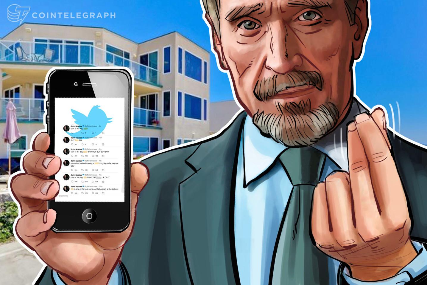 John McAfee berechnet 85.000 Euro pro Werbe-Tweet für Krypto