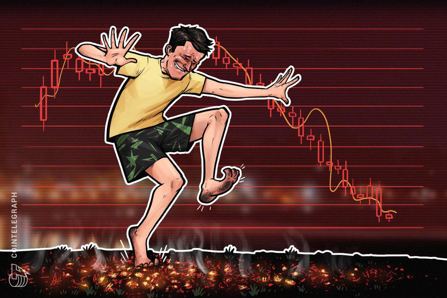 Criptomercados en rojo, Bitcoin cae por debajo de $8 000 y Ethereum, por debajo de $500
