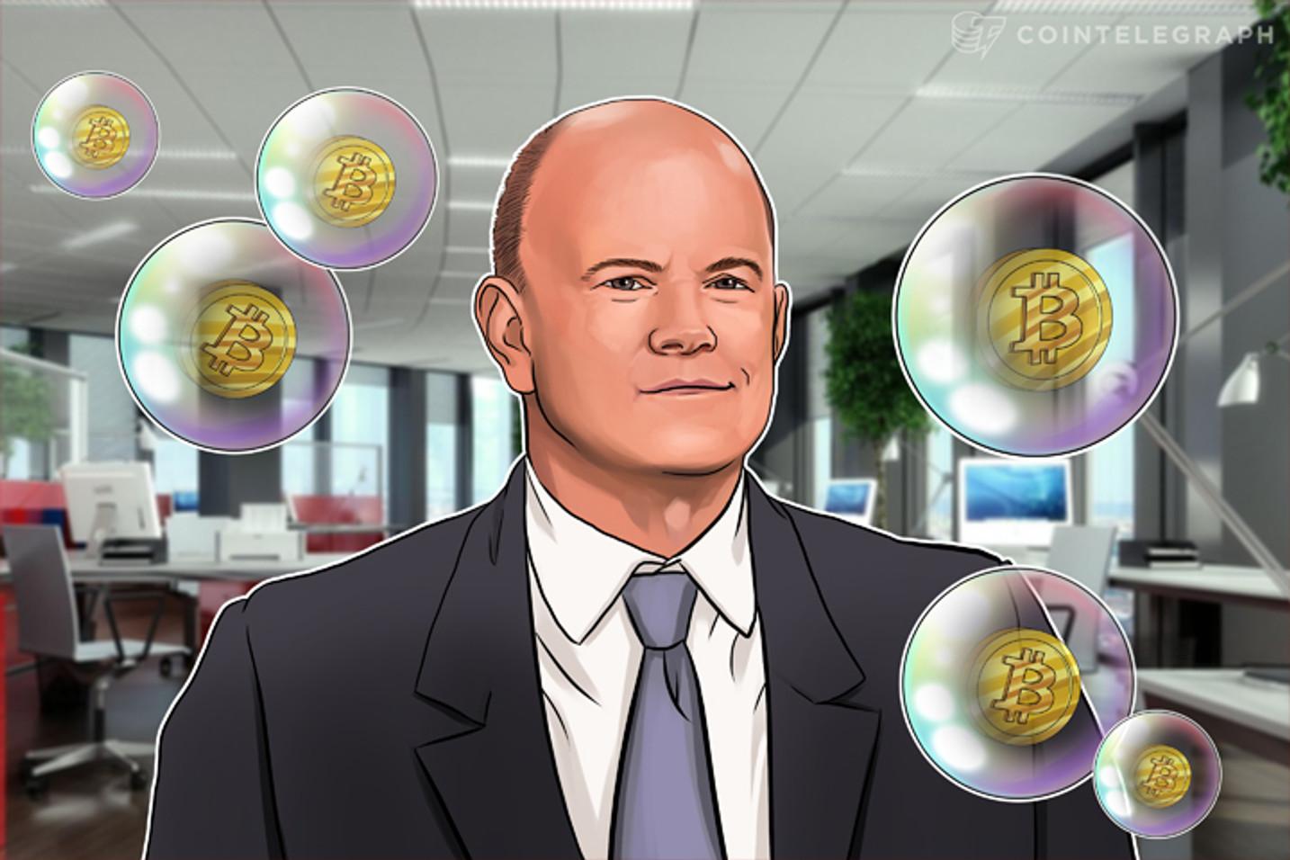 Bolha ou não, há dinheiro para se ganhar com o Bitcoin: Mike Novogratz