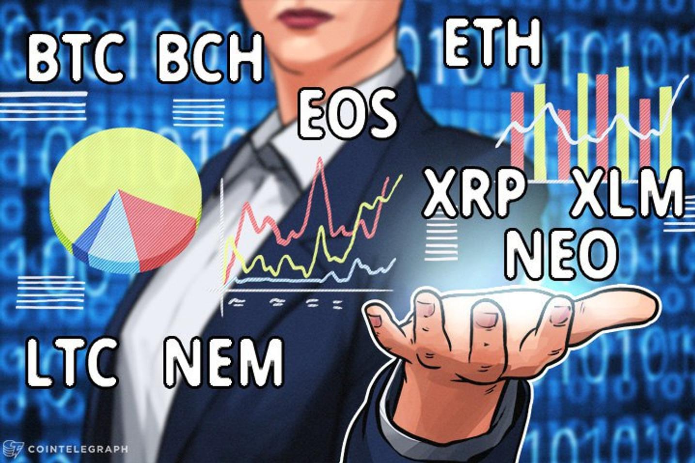 Bitcoin, Ethereum, Bitcoin Cash, Ripple, Stellar, Litecoin, NEM, NEO, EOS: Análisis de precios, 7 de febrero de 2018