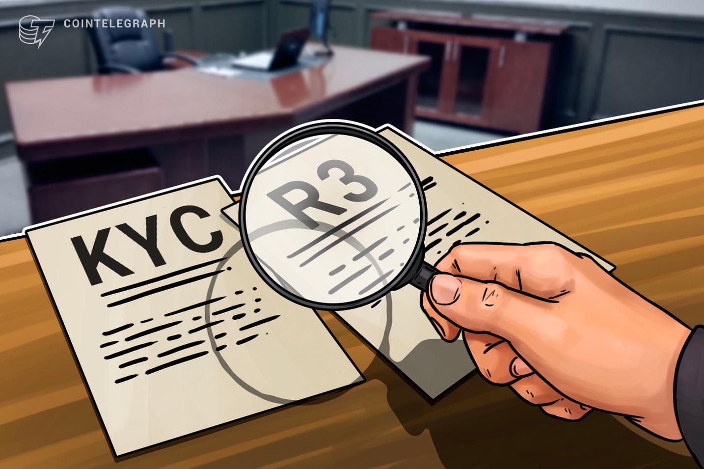 Banks and Regulators Complete KYC App Test on R3 Blockchain Platform