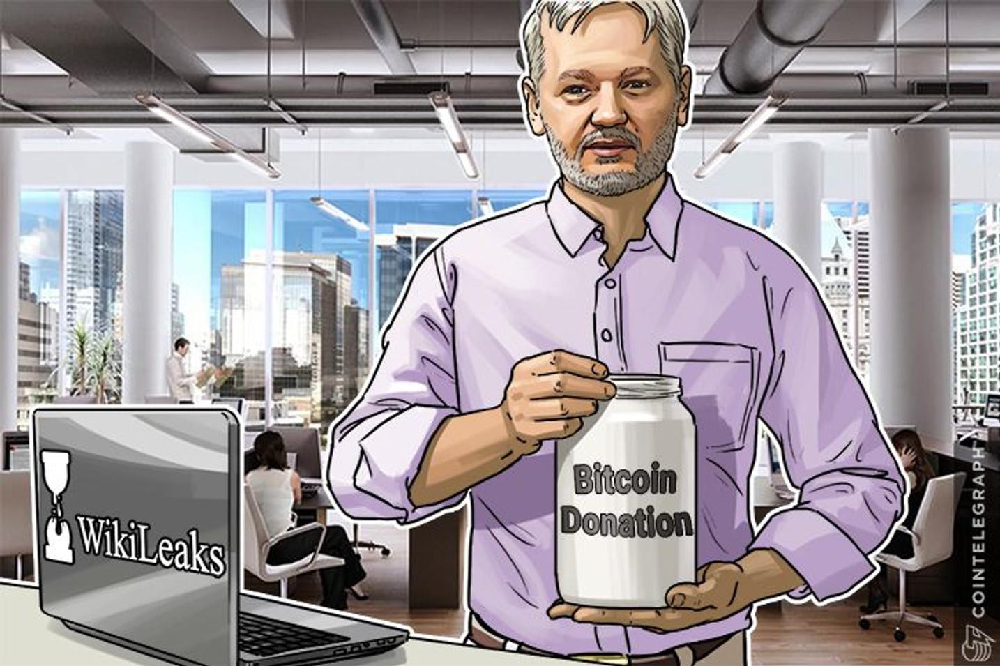 Julian Assange agradece al gobierno de Estados Unidos y a los senadores, por la inversión forzada de Bitcoin
