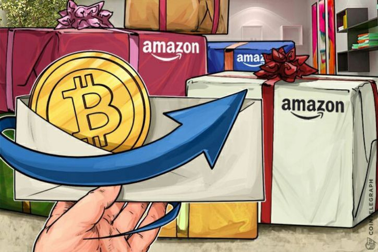 米アマゾンによるビットコイン導入発表への観測高まる