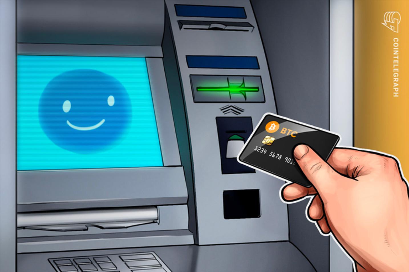 Dinheiro físico na rede banco 24h agora usa tecnologia do Bitcoin
