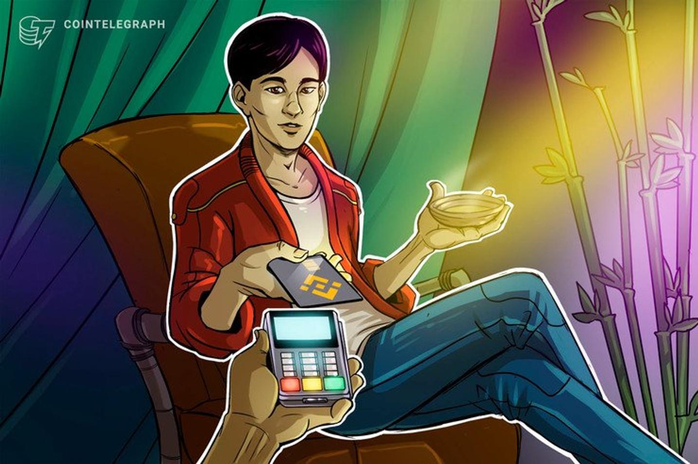 Binance lança cartão Visa para ser carregado com Bitcoin mas ainda não tem previsão de lançamento no Brasil