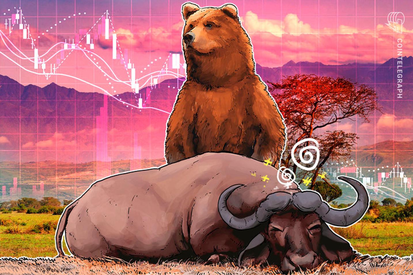 Amanheceu no vermelho: Bitcoin quebra nível de retração de Fibonacci e pode cair abaixo de US$ 7.960