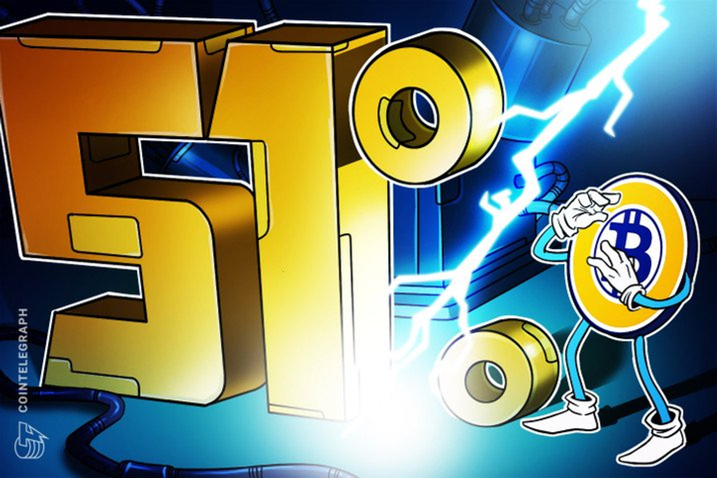 Promover um ataque de 51% na rede do Bitcoin custa 93 BTCs por hora