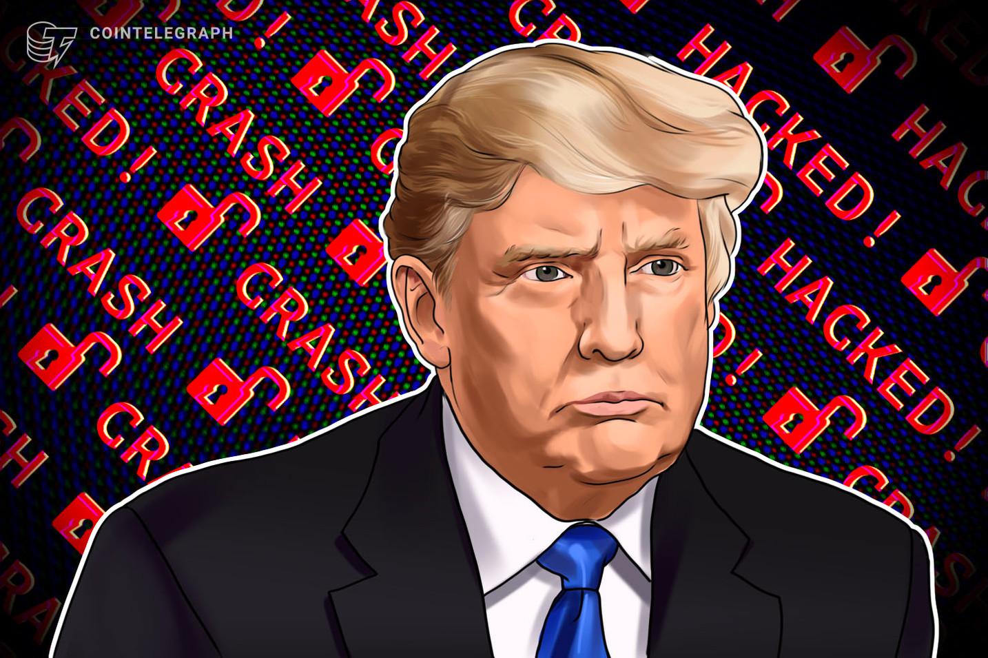 Criptoestafadores hackean el sitio web de la campaña de Trump a una semana de las elecciones