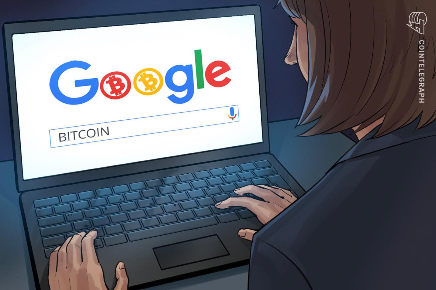 """Google Trends muestra que las búsquedas del término """"Bitcoin"""" alcanzaron un máximo anual cuando el precio llegó a 19,400 dólares"""
