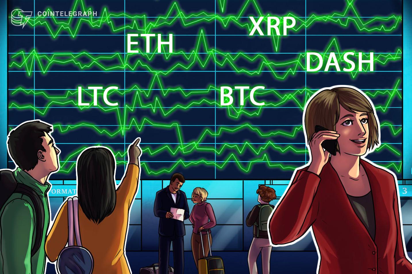 Las 5 principales criptomonedas para observar esta semana: BTC, ETH, XRP, LTC, DASH