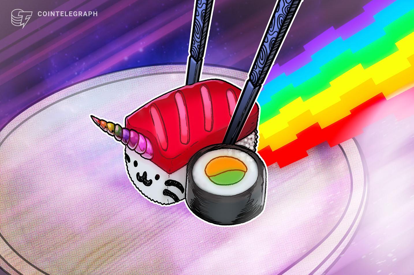 O efeito Yearn.finance: por que a SushiSwap (SUSHI) subiu 75% em 1 semana