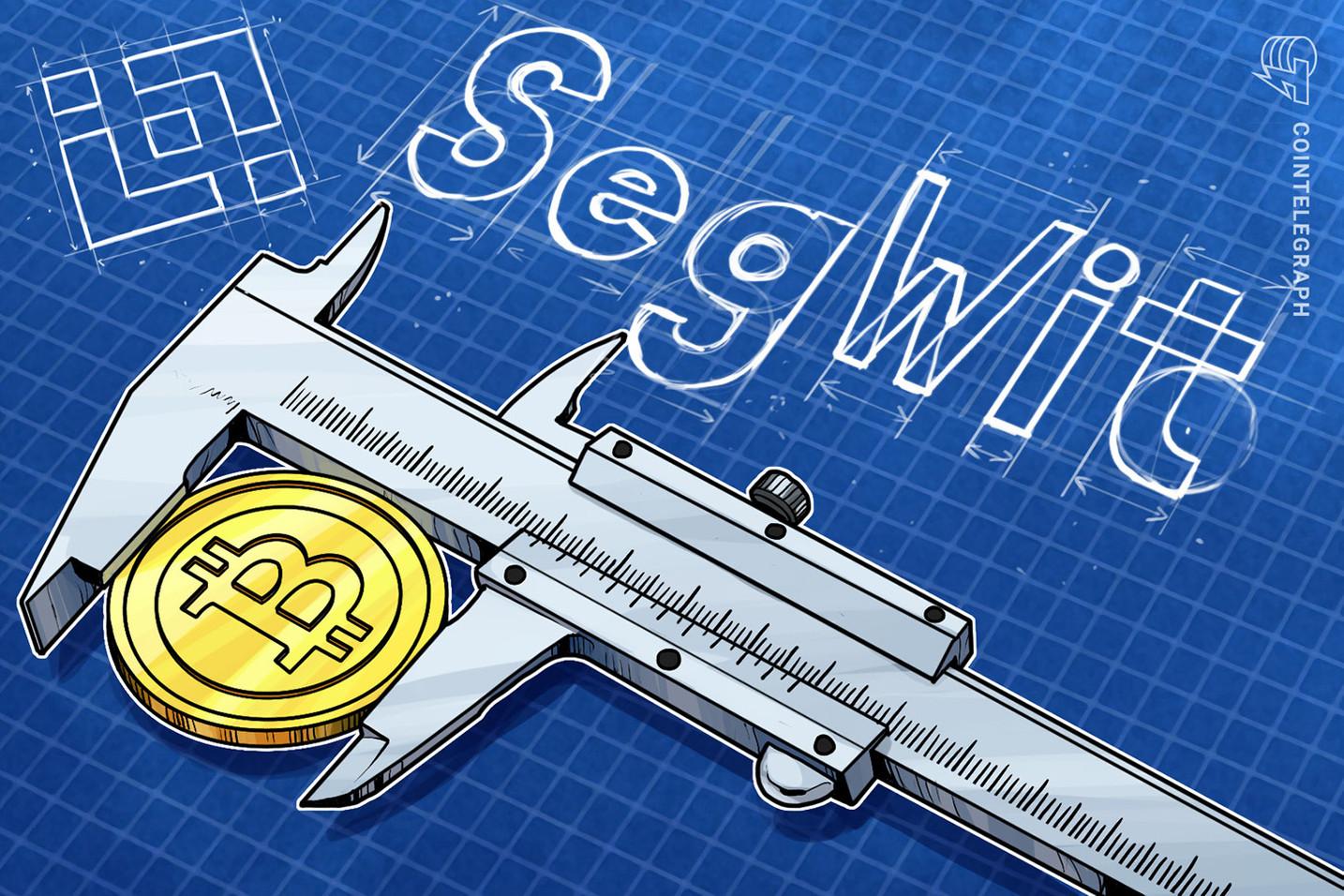Binance permite el soporte para SegWit en depósitos de Bitcoin a medida que crece la adopción