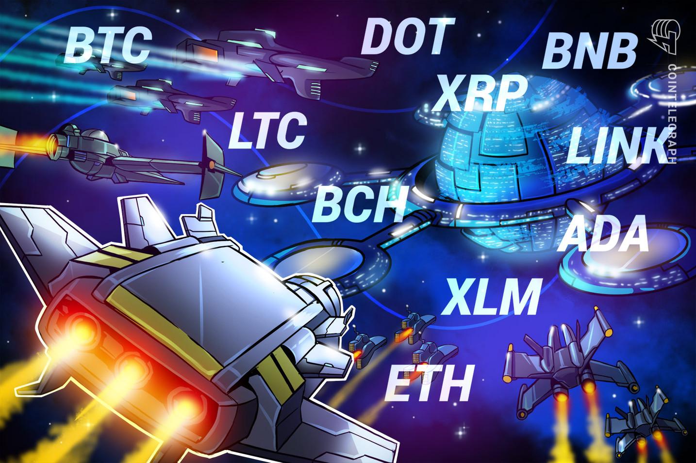 Análisis de precios del 27 de enero: BTC, ETH, DOT, XRP, ADA, LINK, LTC, BCH, BNB, XLM