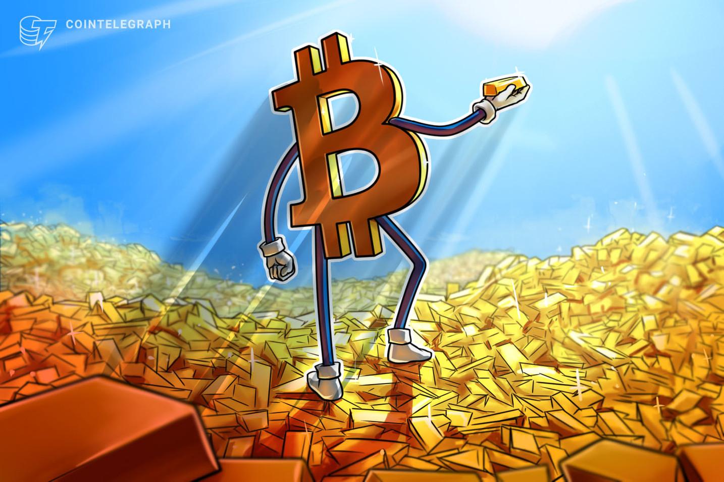 Especialistas: 'as saídas de ouro estão impulsionando o preço do Bitcoin a subir'