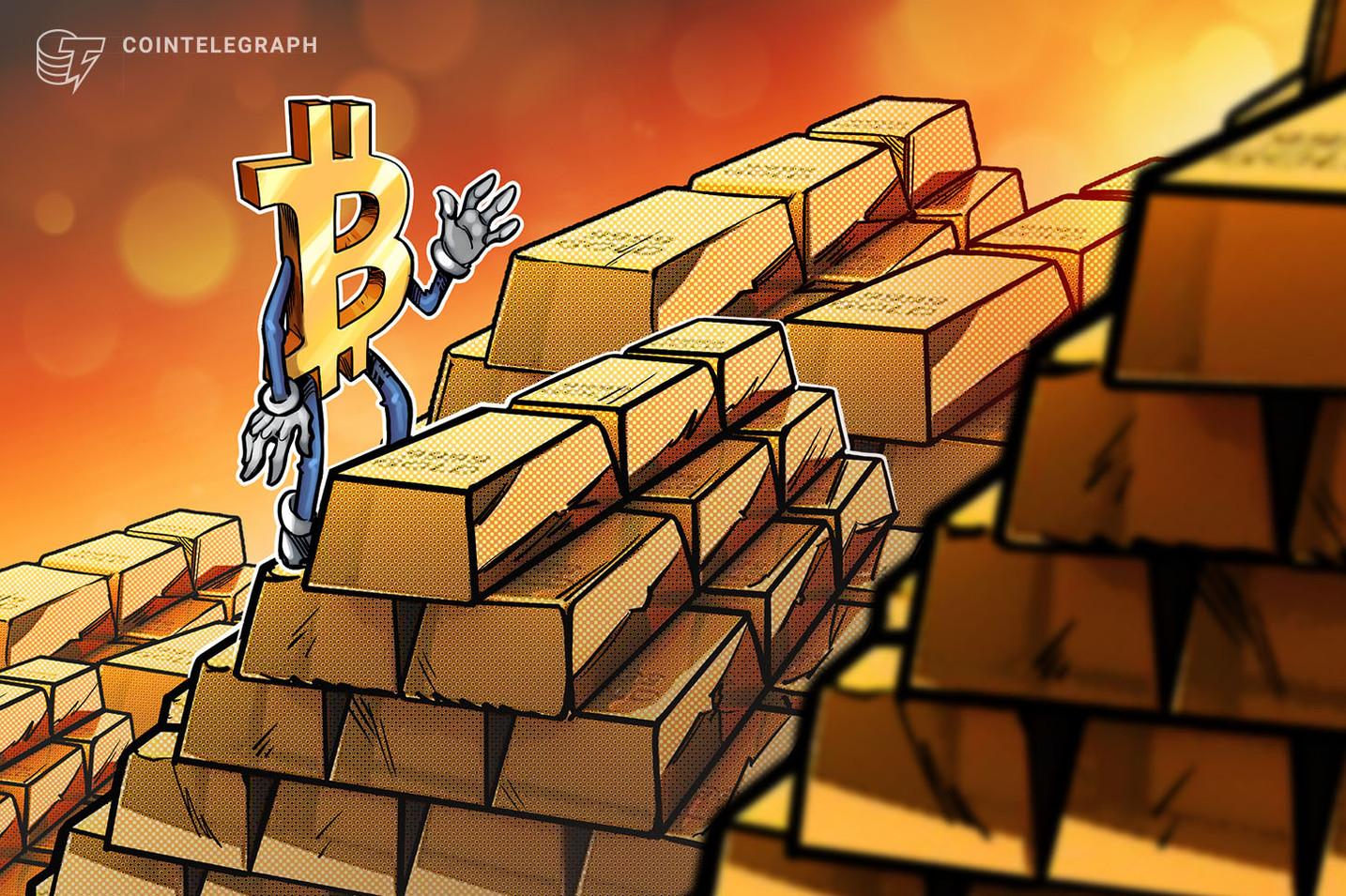 Bitcoin capturou apenas 2% da capitalização de mercado do ouro, sugerem novos dados