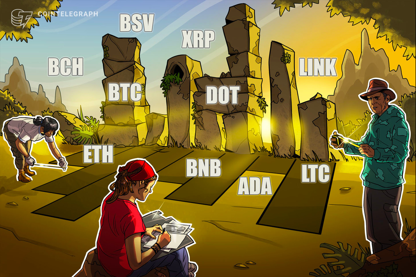 Price analysis 1/4: BTC, ETH, XRP, LTC, DOT, BCH, ADA, BNB, LINK, BSV