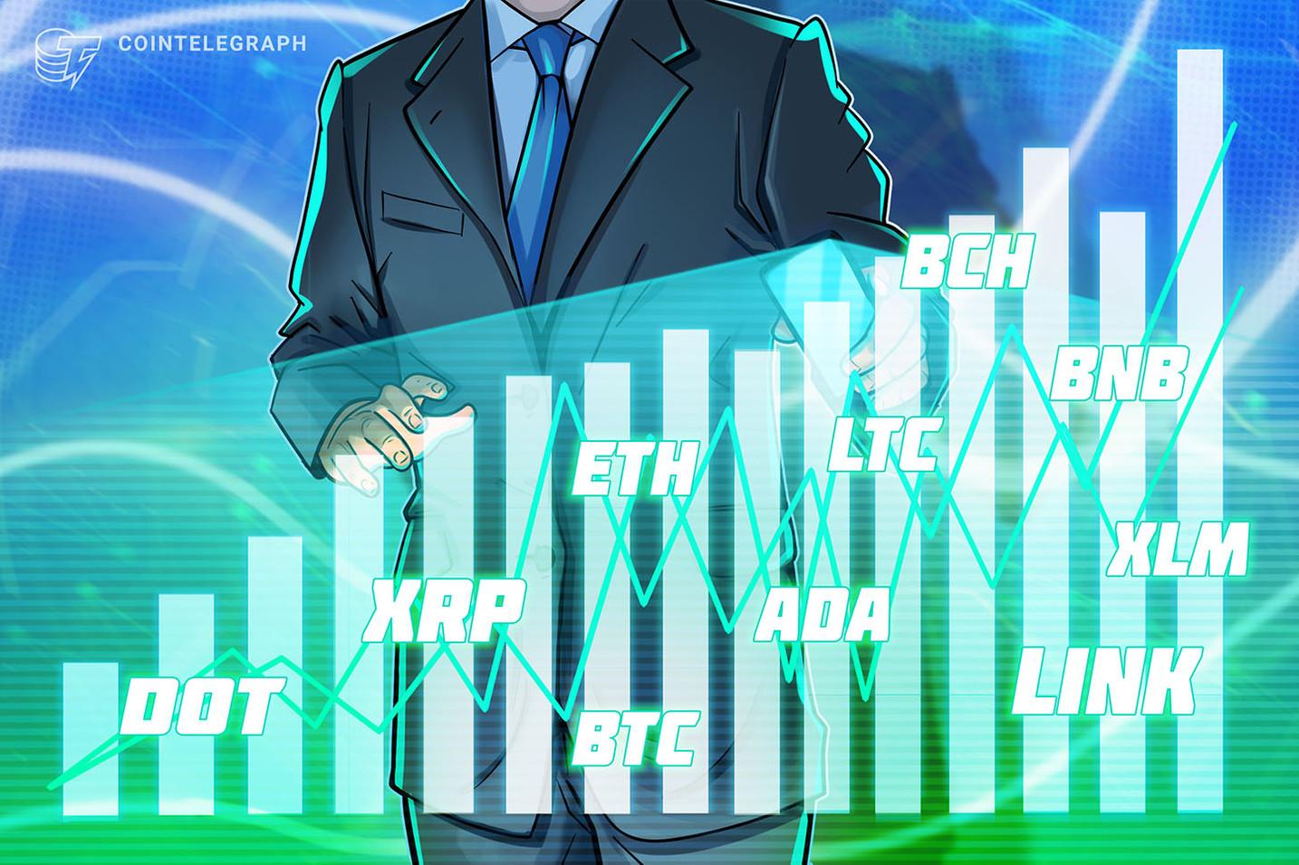 价格分析1/22:BTC、ETH、DOT、XRP、ADA、LTC、LINK、BCH、BNB、XLM