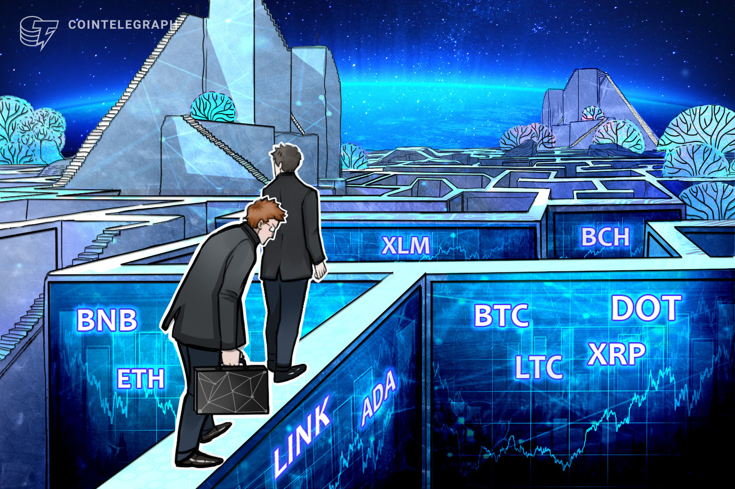 Análisis de precios al 26/2: BTC, ETH, ADA, BNB, DOT, XRP, LTC, LINK, BCH, XLM