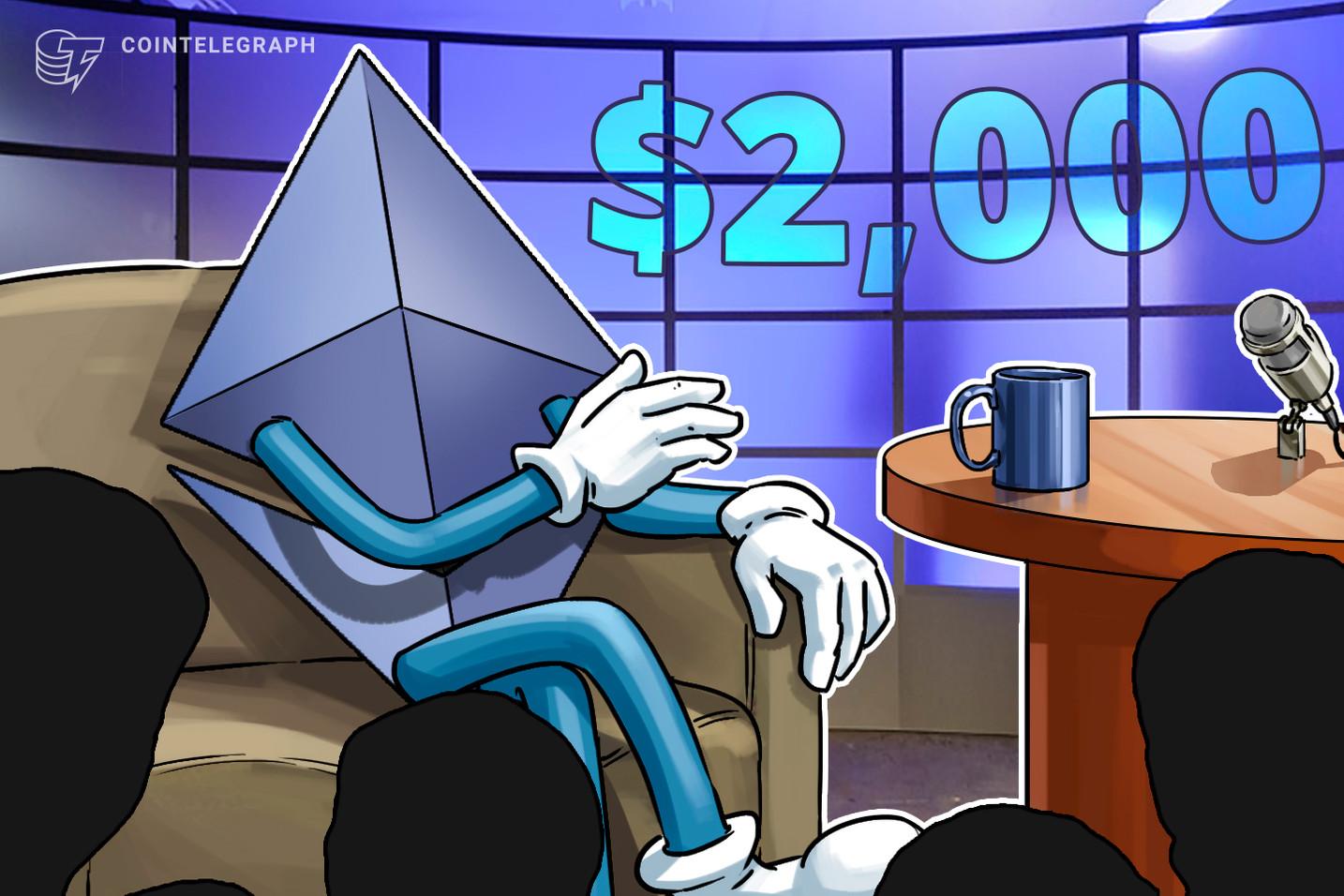 Los fundamentos de Ethereum señalan que el precio de USD 2,000 está más cerca de lo que parece