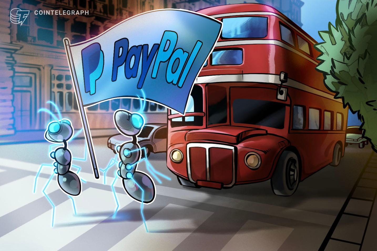 ペイパル、今年上半期中にも仮想通貨取引を英国でも可能に