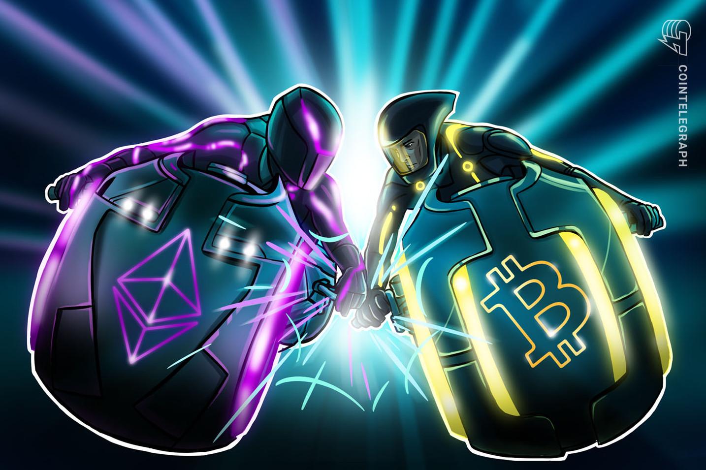 Bitcoin y Ethereum se ralentizan a la vez que el valor de las transacciones y las comisiones caen en un 70%