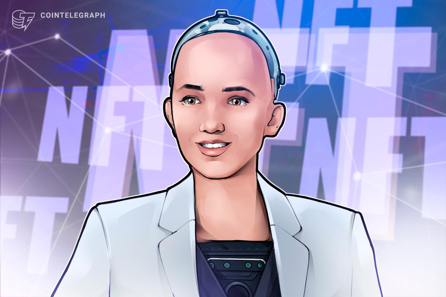 Sophia The Robot prepara una subasta de obras de arte digitales NFT