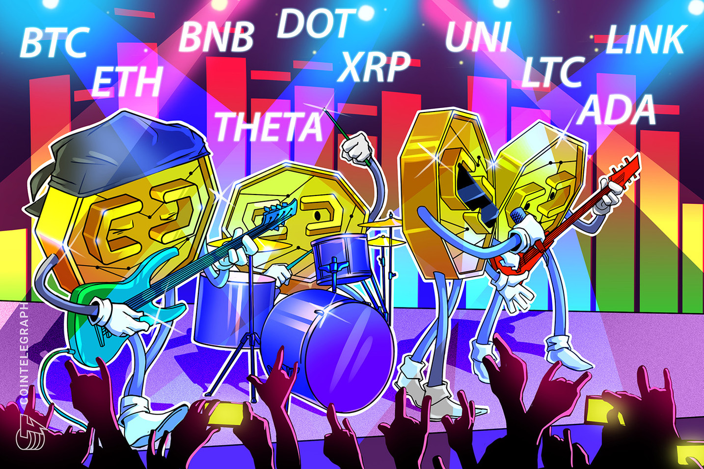 Análise de preço 29/03: BTC, ETH, BNB, ADA, DOT, XRP, UNI, THETA, LTC, LINK