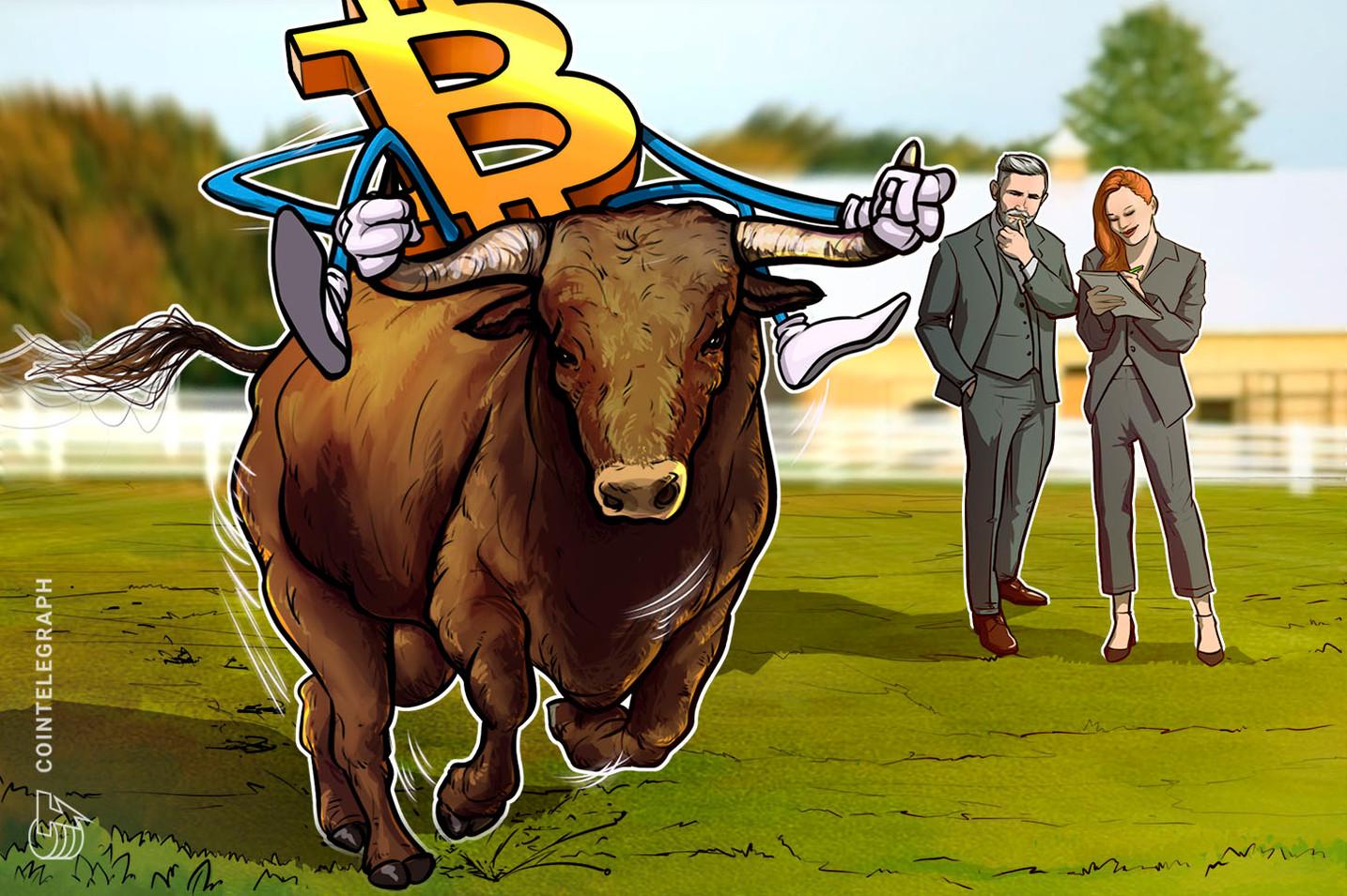 To the moon: alta no preço do Bitcoin para US$ 61.800 mostra que os touros estão no controle total