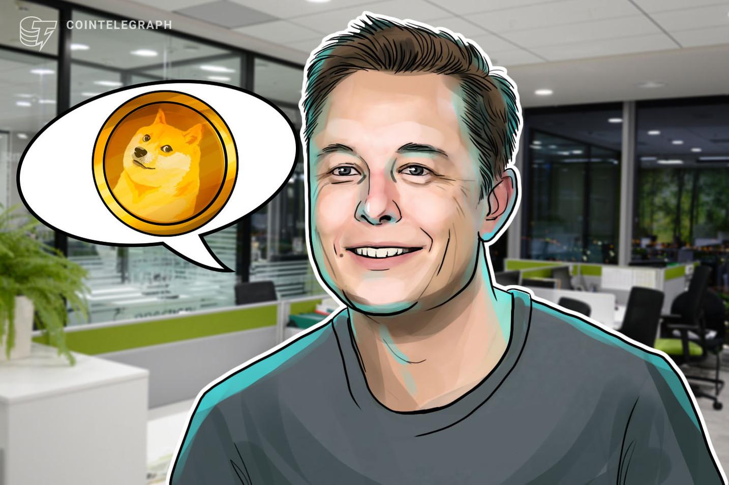 "¿Literalmente ""a la luna""? El tweet de Elon Musk sobre SpaceX impulsó a Dogecoin en un 35%"