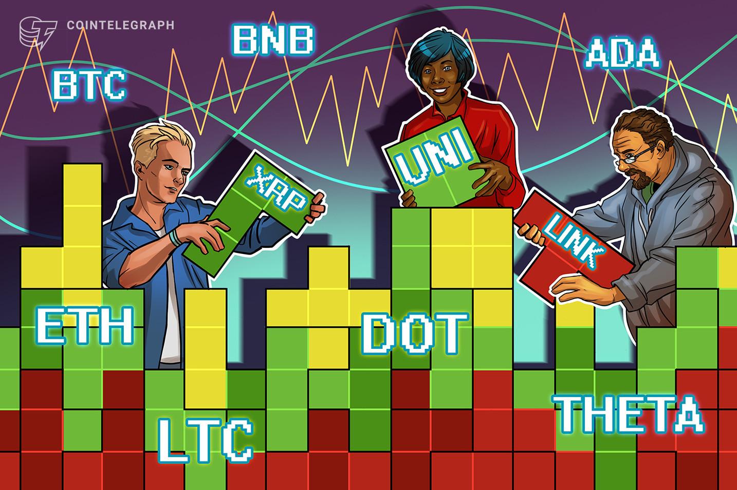 Análisis de precios del 5 de abril: BTC, ETH, BNB, DOT, ADA, XRP, UNI, LTC, LINK, THETA