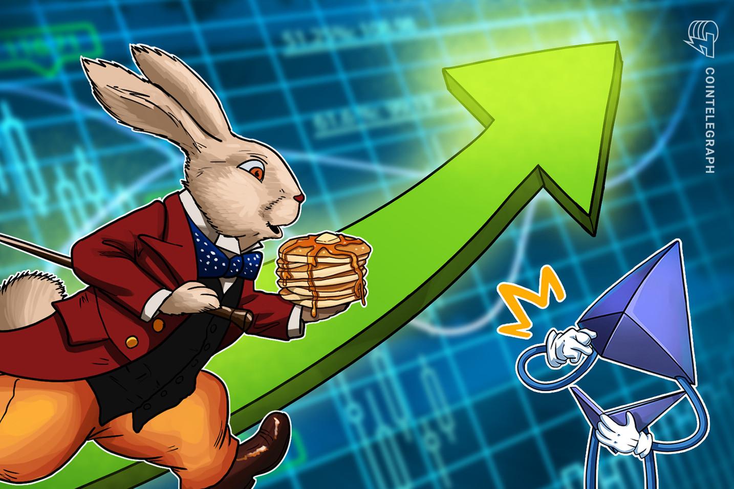 PancakeSwap supera a la red Ethereum en transacciones de un periodo de 24 horas