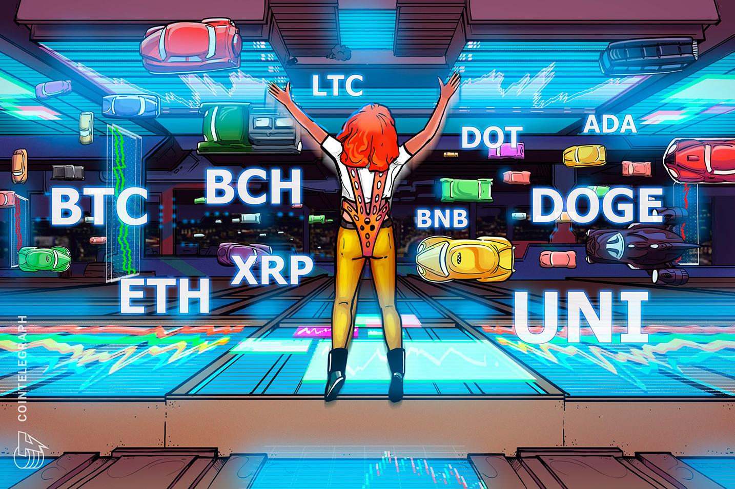 Análise de preço 21/05: BTC, ETH, BNB, ADA, DOGE, XRP, DOT, BCH, LTC, UNI