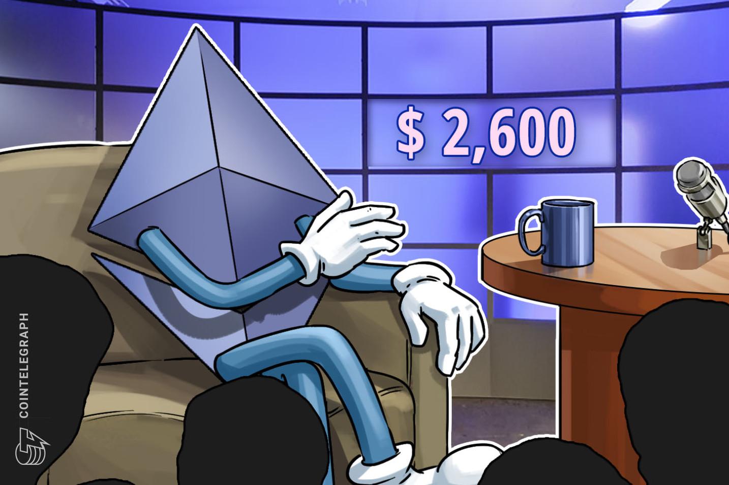 El rebote del precio de Ethereum hasta los USD 2,600 no consigue entusiasmar a los traders profesionales para que sean neutrales o bajistas