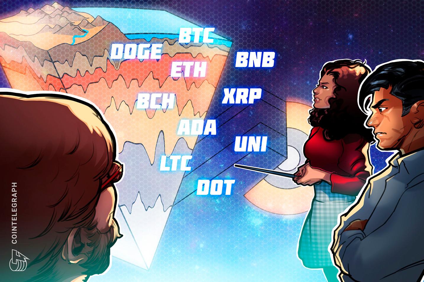 Price analysis 7/30: BTC, ETH, BNB, ADA, XRP, DOGE, DOT, UNI, BCH, LTC