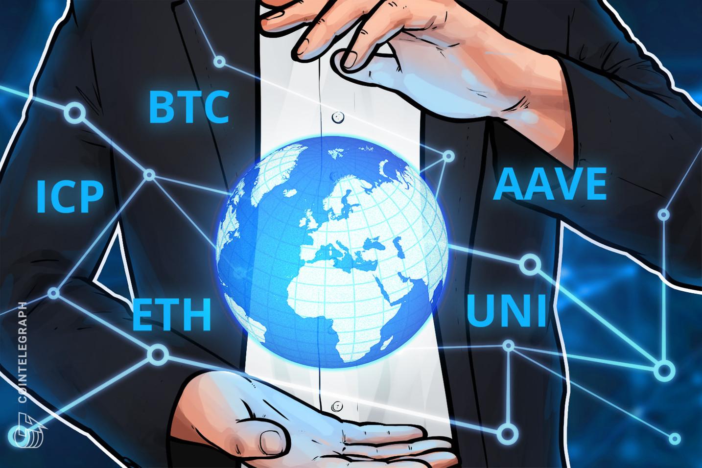 5 principales criptomonedas a tener en cuenta esta semana: BTC, ETH, UNI, ICP, AAVE