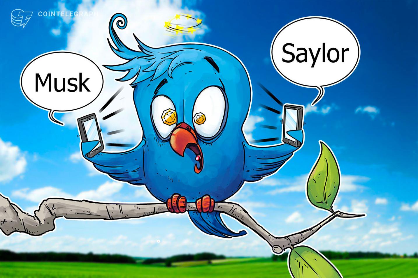 Aquí mostramos cuánto influyeron los tuits de Musk y Saylor en los precios de las criptomonedas en el segundo trimestre