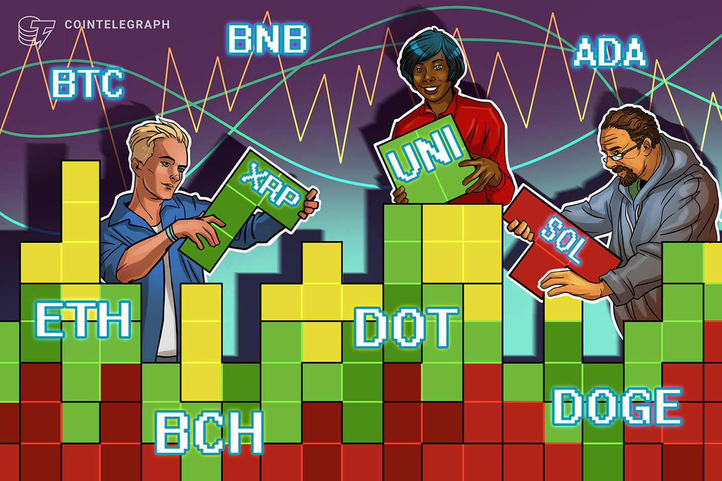 Análisis de precios del 20 de agosto: BTC, ETH, ADA, BNB, XRP, DOGE, DOT, SOL, UNI, BCH