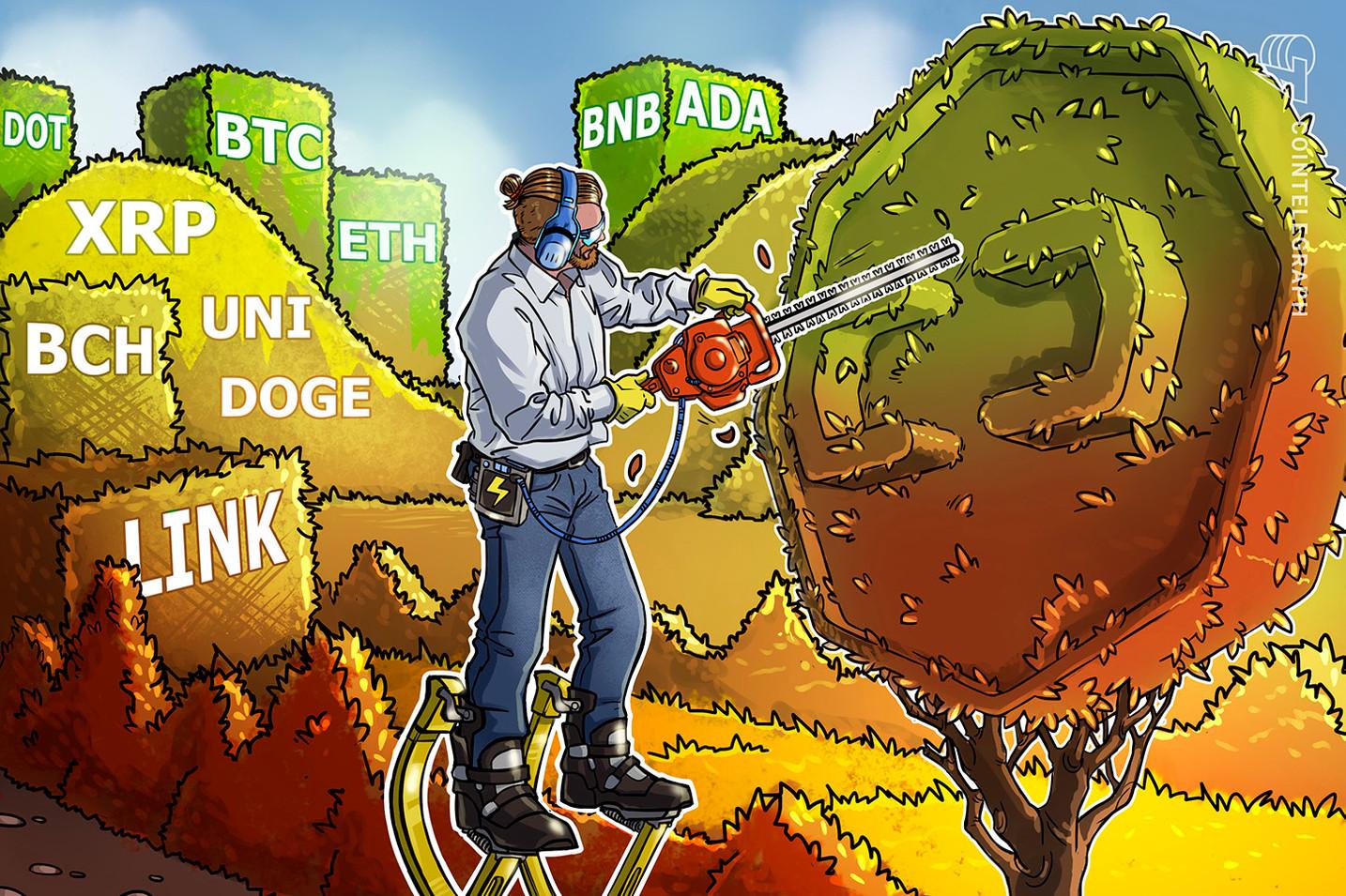 Análisis de precios al 6/8: BTC, ETH, BNB, ADA, XRP, DOGE, DOT, UNI, BCH, LINK