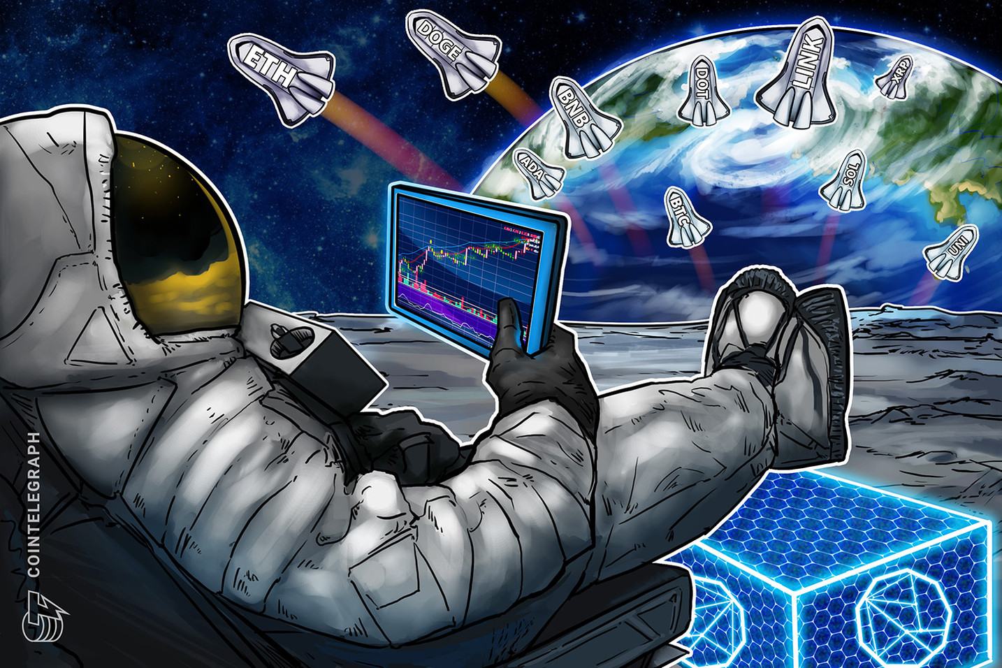5万ドル以上を維持できるか 仮想通貨チャート分析:ビットコイン・イーサ・XRP(リップル)