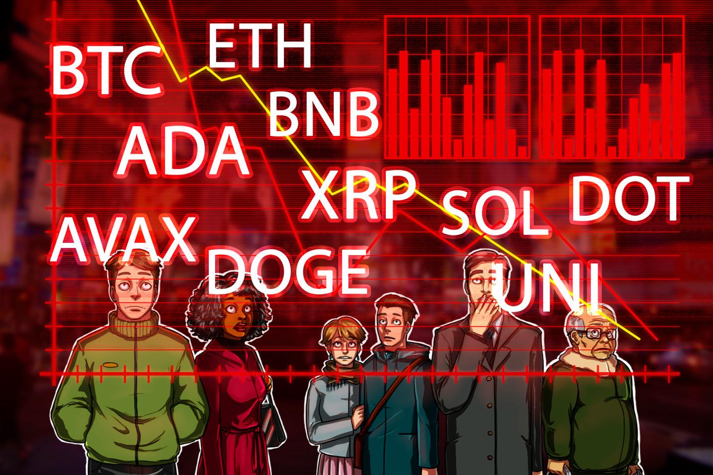サポートからの反発なるか 仮想通貨チャート分析:ビットコイン・イーサ・XRP(リップル)