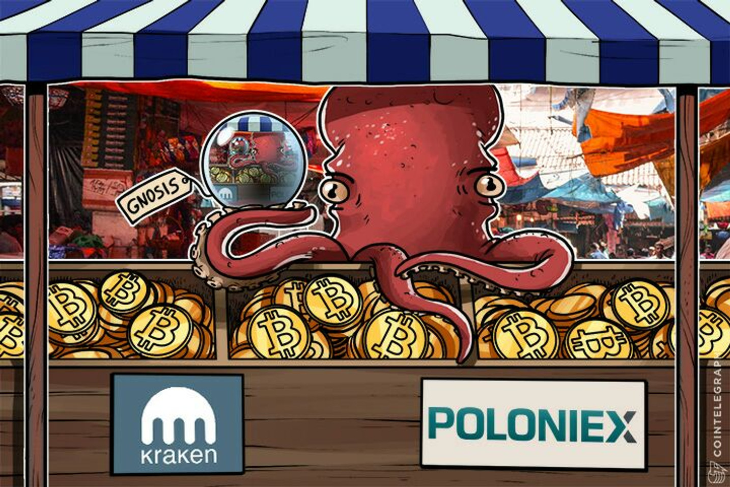 Largest Crypto Exchanges Kraken, Poloniex Start Gnosis Trading