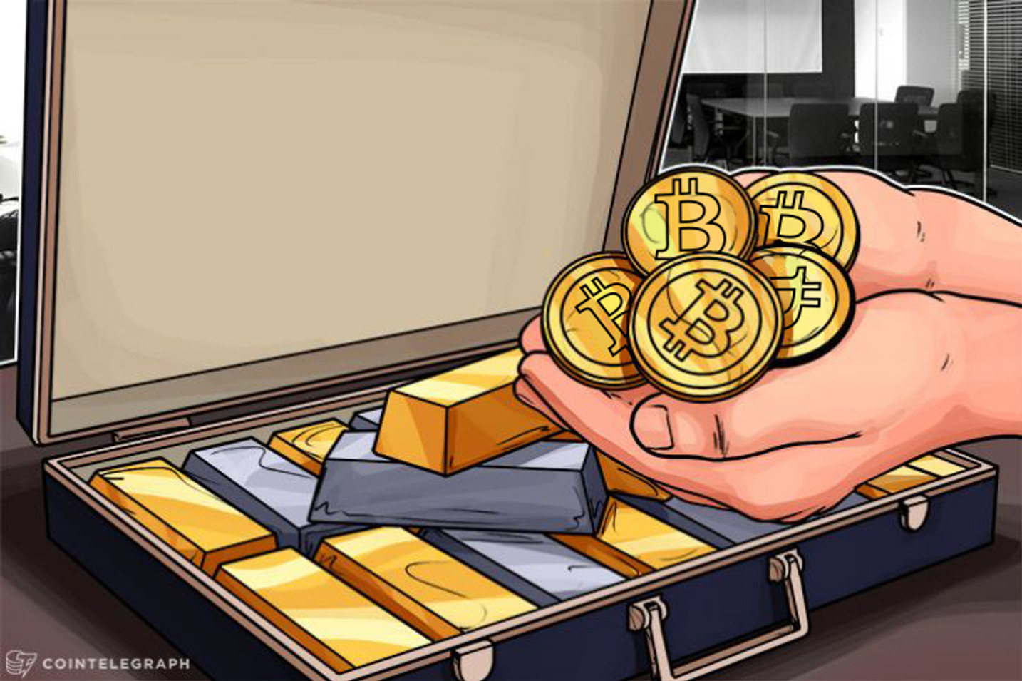Ouro Segue o Caminho do Bitcoin para Obter seu Próprio Aplicativo de Gastos PoS